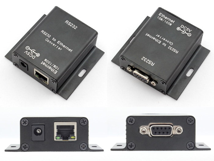 ตัวแปลง RS232 lan Ethernet Convertor